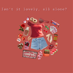 freetoedit isntitlovely lovely red aestgetic