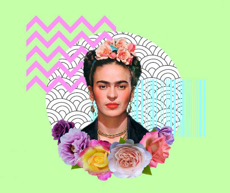 #freetoedit #fridakahlo #flower #flowers #flowercrown #abstract #art #srcfridaflowercrown