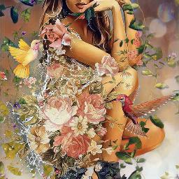 freetoedit srcfridaflowercrown fridaflowercrown flowers myedit