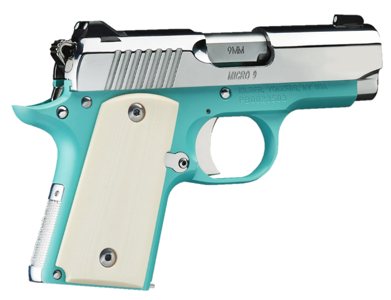 Gun Pistol Revolver Girlyweapon Teal Green 9mm