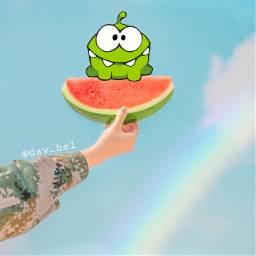 ecomnomadventure omnomadventure freetoedit omnom watermelon