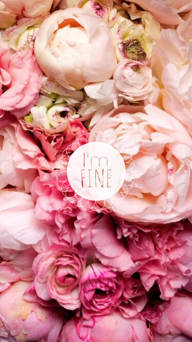 #freetoedit #wallpaper #imfine #peonies #flowers #nature #foundongoogle #sticker #quote #iphonewallpaper
