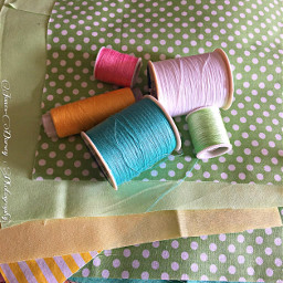 freetoedit pastels sewing thread fabric