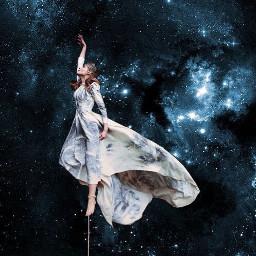 freetoedit interesting space art girl