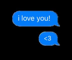 speechbubble ily iloveyou blue png freetoedit