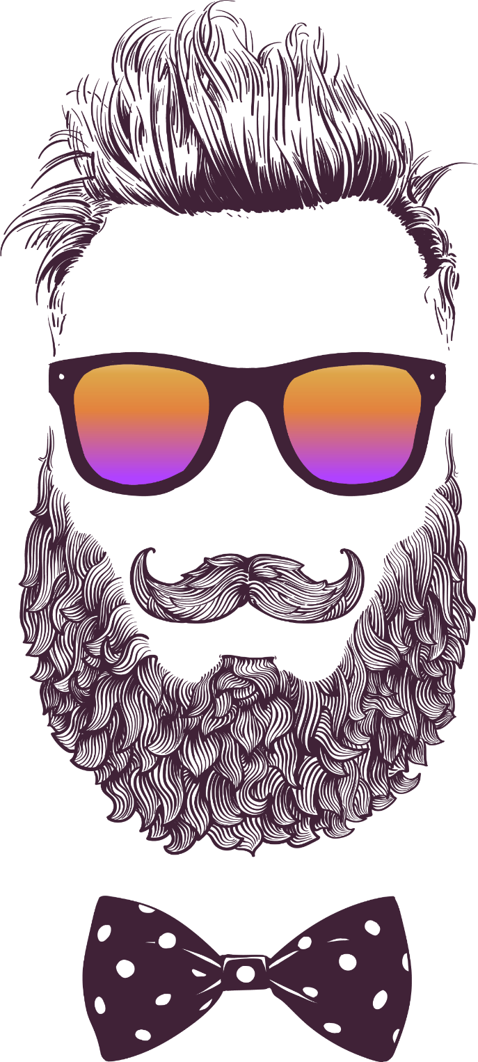 Beard sticker