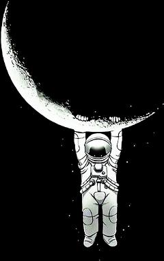 freetoedit moon astronaut space universe