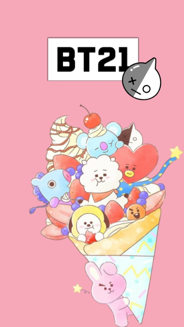 Freetoedit Bts Bt21 Wallpaper Pink Cute
