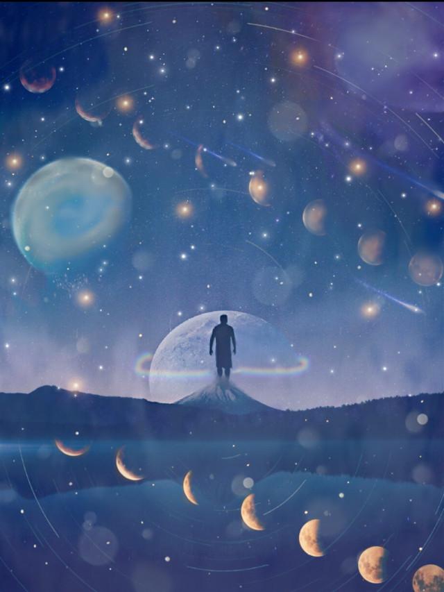 #remix @picsart galaxy! #moon