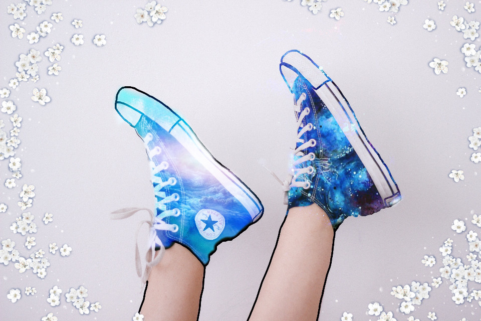 #freetoedit #galaxyshoes #converse #allstar #becreative