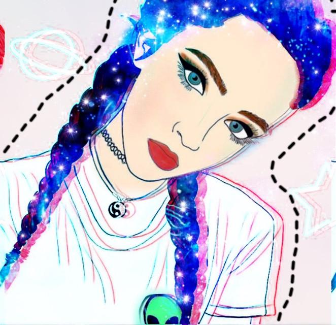 #freetoedit #remix #edit #galaxyhair #be_creative #art