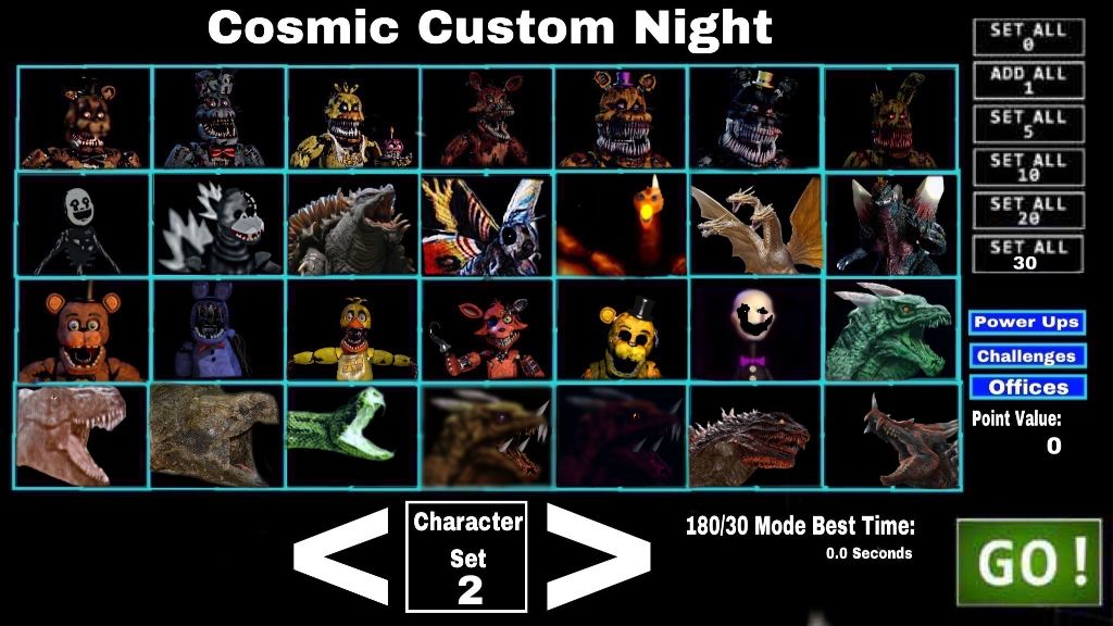 FNAF UCN Cosmic_Custom_Night Fnafucn Characterset2 Free