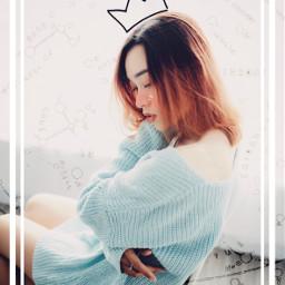 freetoedit crown girl cute zodiac