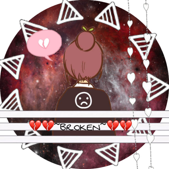 #pfp #broken #heartbroken #loser #lostit #galaxy #red #sad