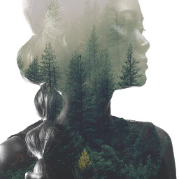 freetoedit girl forest exposure woman