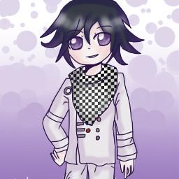 daganronpa kokichiouma purple drawing art