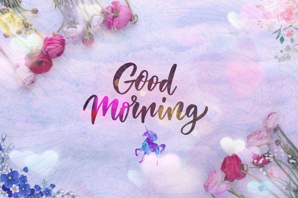 freetoedit goodmorning flowers aesthetic unicorn purple