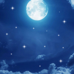 colorblue moon starrynight intheclouds freetoedit