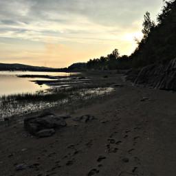 freetoedit remixit walkonthebeach sunset summernights