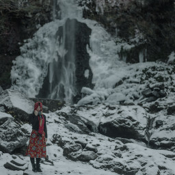 portrait photography snow nature fasion