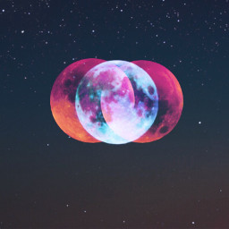 bloodmoon lunarecplipse galaxy space freetoedit