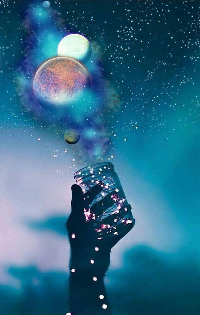 #myedit#night#nightsky #dark#blue#hand#jar#lights#lightning #planets #planetedit#tumblr#galaxy#stars#surreal  . . #miniTfam♥️#fozirshifam🖤