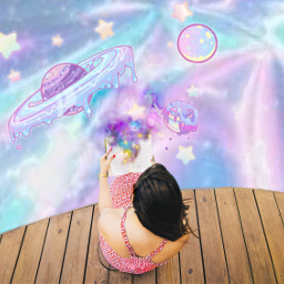 freetoedit candy holographic planets pastel ircpoolsidereading
