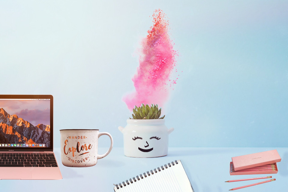 #freetoedit cute desk style #remixthis #remixchallenge #remix #cute #plant