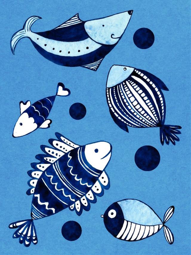 #blue #fishes #underthesea #pattern