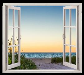 window view beach freetoedit