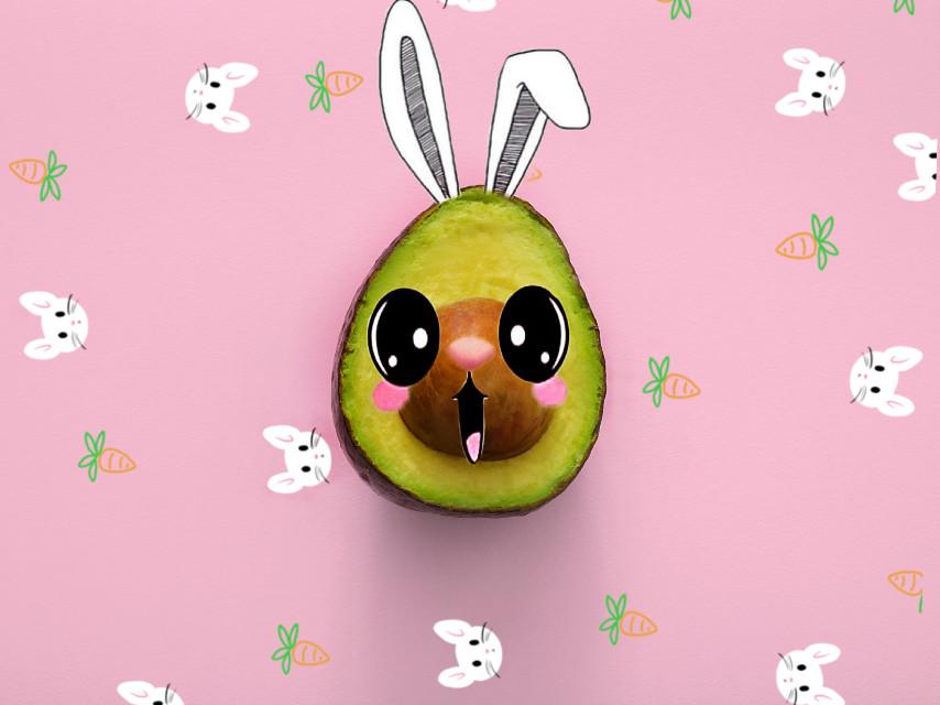 #freetoedit srry ive been in active #bunnycado #kawaii #art #edit #love