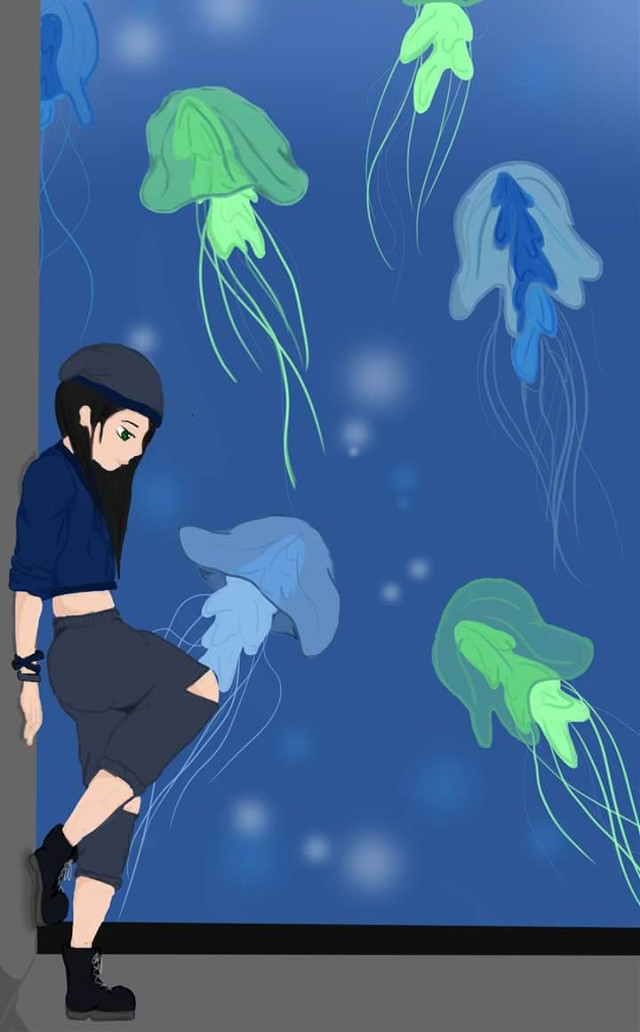 #jellyfish #blue #green #water #girl #drawing #drawedbyme #draw #arts #digitaldrawing #digitalart #digital #doodles #comicsgirl #doodling #draws #comics #cutegirl #cute #sketch #bored #madewithpicsart #freetoedit #remix #remixit #drawing #shadesofblue #jellyfishinvasion #digital