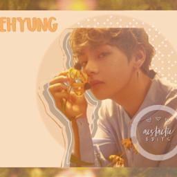 taehyung kpopedit loveyourselfher flowers orange