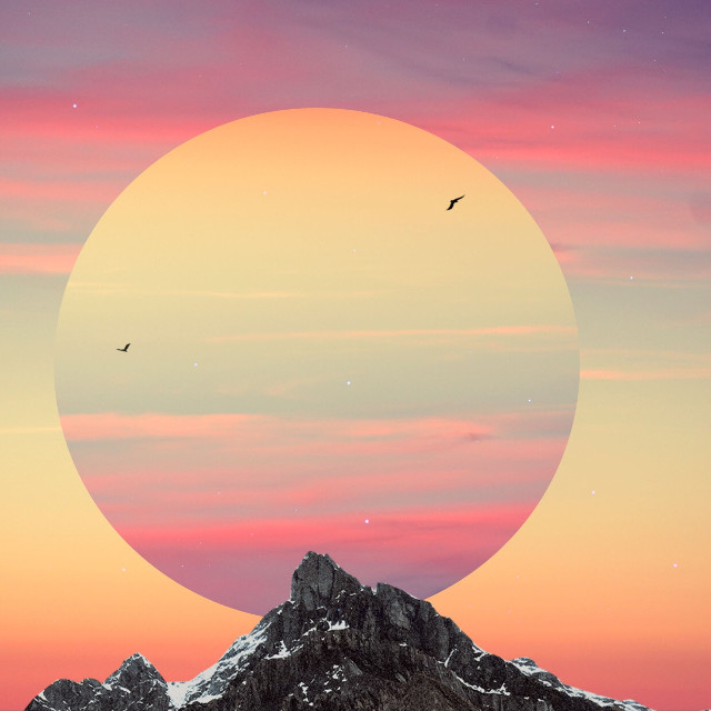 Somewhere✨  #edit #art #simple #shapecrop #mountains by @seyyahh