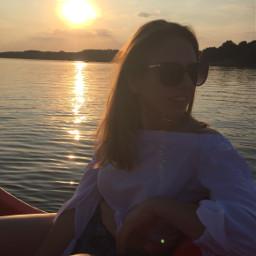 sun sunset sky sea water