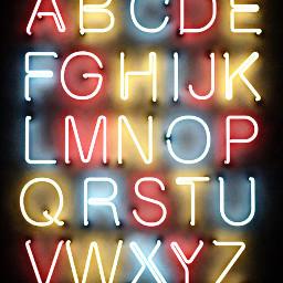 neonsigns freetoedit abc alphabet letters