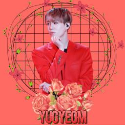 freetoedit yugyeom yugyeomgot7 maknae red aesthetic