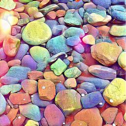 fruitypebbles nature colurful rocks freetoedit