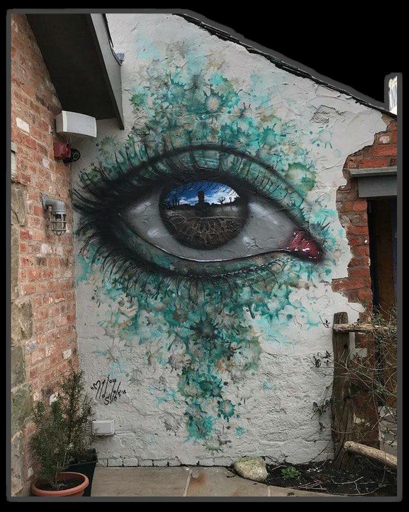 Art Wallpainting Graffiti Eye Eyes Iris Pupil