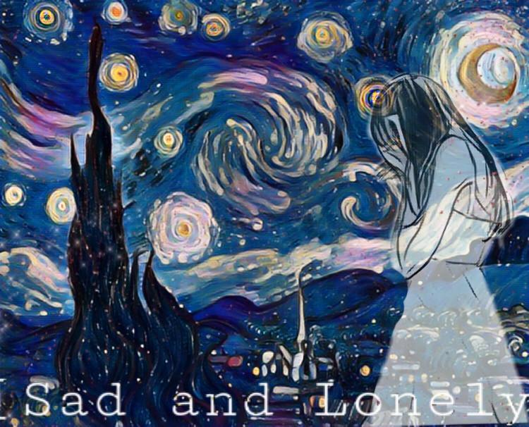 #freetoedit #sad #sadnight #vangoghsky #vangoghart #starrynight #remix #sad #and #lonely #lonelygirl   Sad And Lonely Peoples 😓