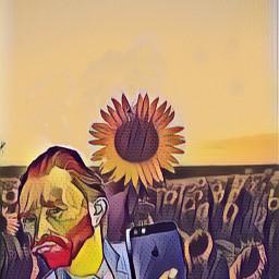 freetoedit sunflowers vangoghsunflowers vangoghart vangoghstyle ircsunflowersgalore