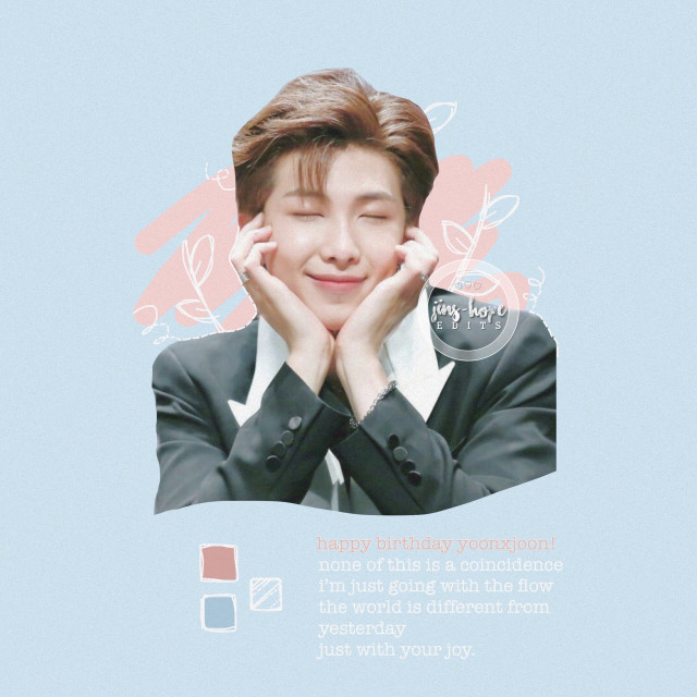 "»happy birthday @yoonxjoon ! 💕💕i hope you have a great day, love!! 💕  ............ #bts #btsedit #btsnamjoon #kimnamjoon #namjoon #rm #kpop #pastel #edit #kpopedit  ............  [🦋] rm sticker from  [❄️] lyrics from bts- ""serendipity"""