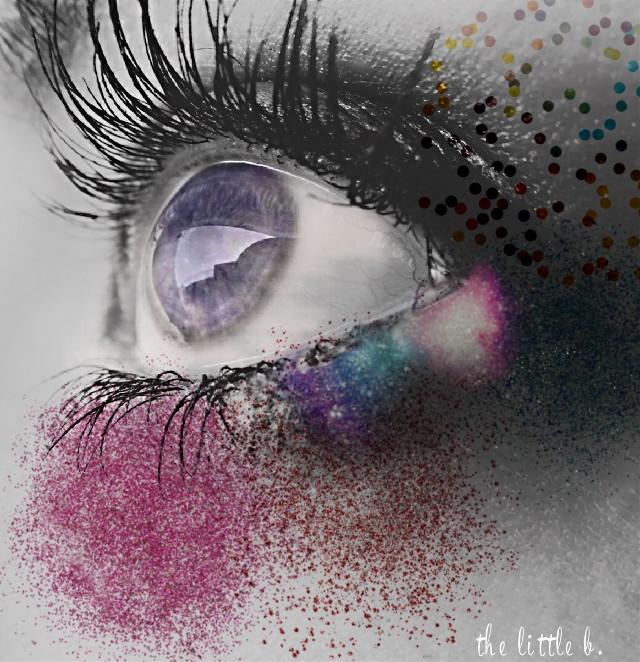 Just glitter. #freetoedit #eye #glitter