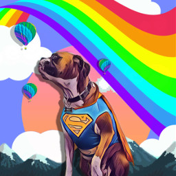 freetoedit dog background cuterainbow vaporwave