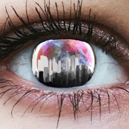 freetoedit city eye galaxy