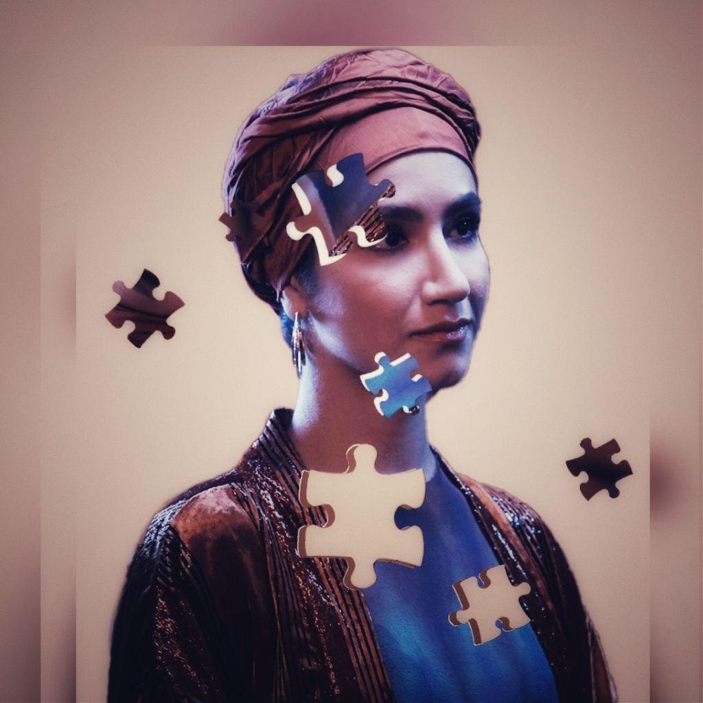 #freetoedit #woman #puzzles #vintage