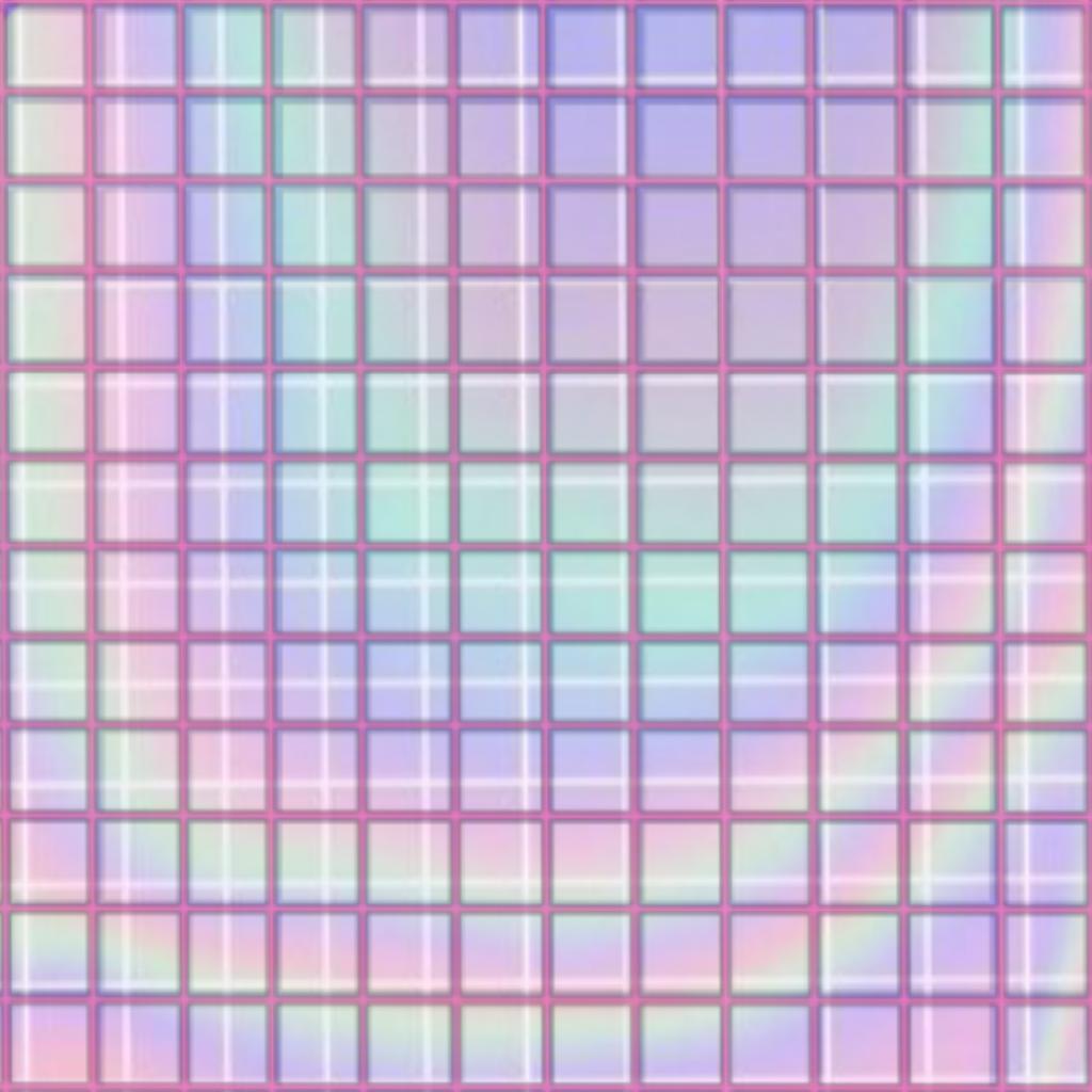 Freetoedit Aesthetic Grid Pattern Holographic Rainbow Pink