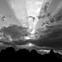 blackandwhite black sunset clouds monochromephotography
