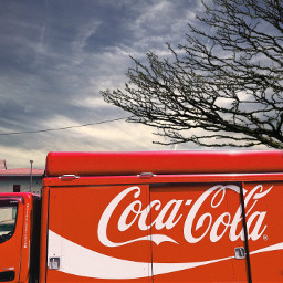 freetoedit cocacola delivery truck beautifulsky