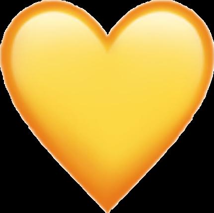 iphoneemoji emoji iphone yellow heart likeit